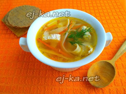 куриный суп с лапшой как в садике