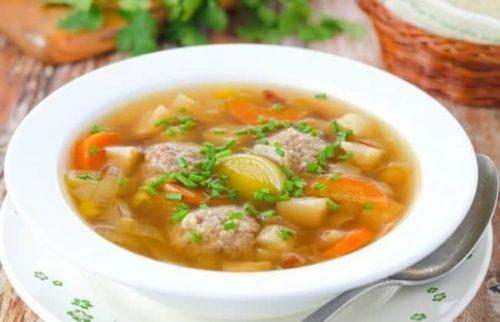 Как приготовить суп с фрикадельками, с рисом и картофелем