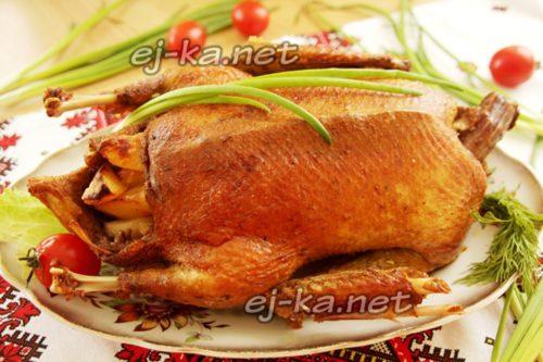 утка в духовке запеченная с картошкой