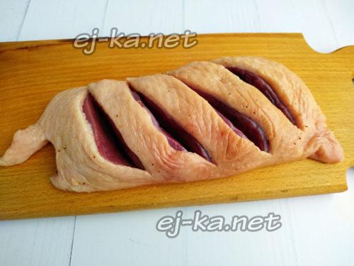 сделать надрезы на филе