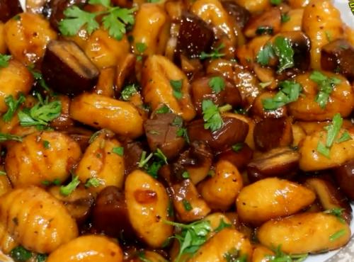 Вкуснейшие ньокки с грибами и каштанами