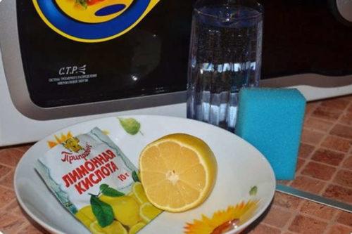 Как пользоваться лимонной кислотой для очищения микроволнового шкафа