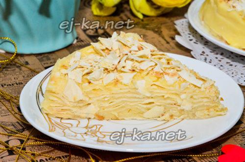 торт ленивый наполеон из лаваша