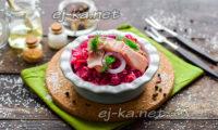салат из свеклы с селедкой