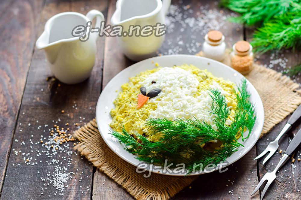 "салат ""Белый лебедь"""