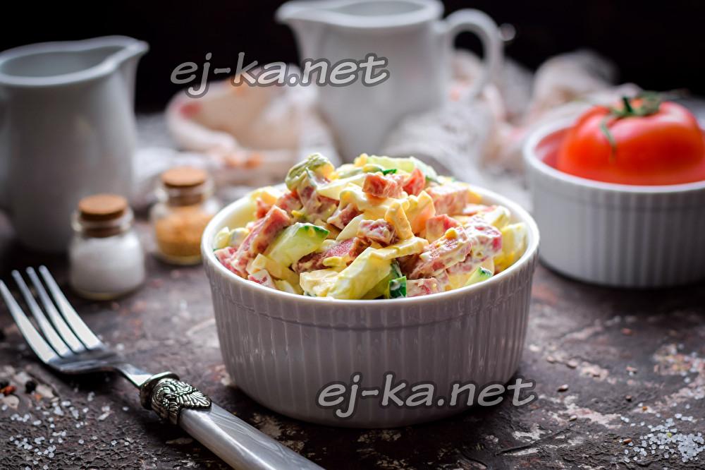 """салат """"Секунда"""" с колбасой"""