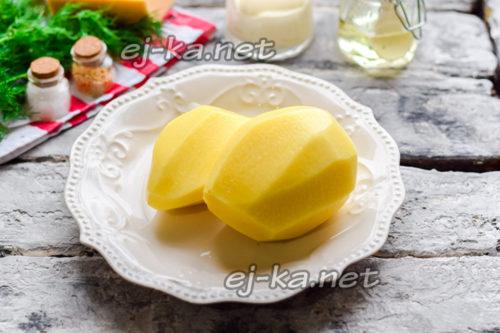 картофель очистить