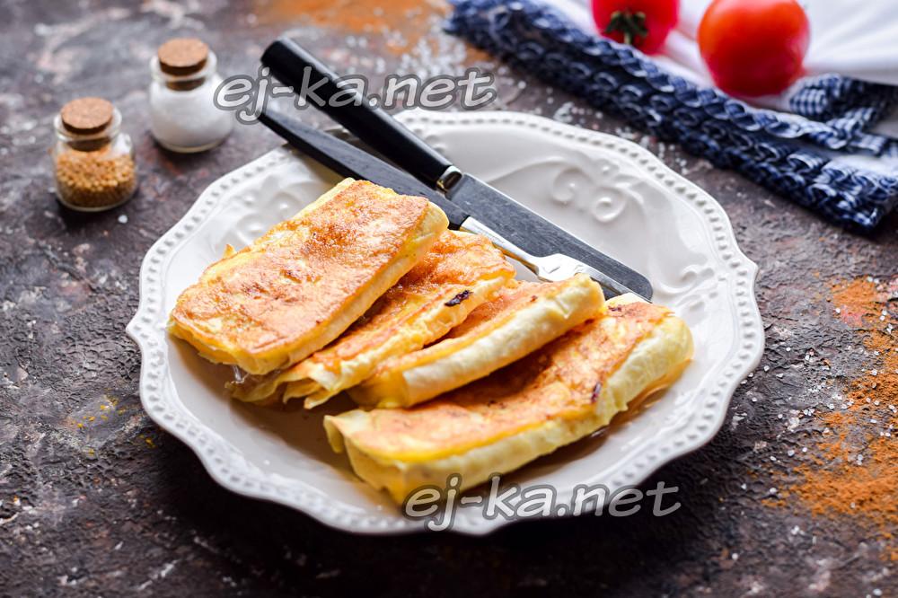 лаваш с сыром в яйце