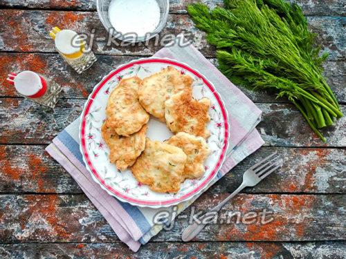 куриные оладьи готовы