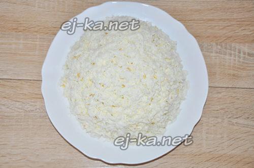 слой тертого белка
