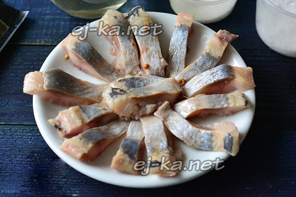 сельдь в горчично-уксусной заливке