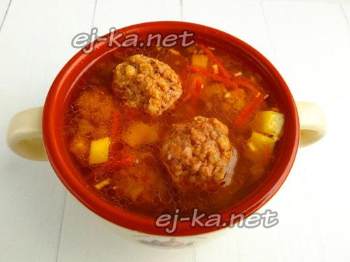 разлить суп