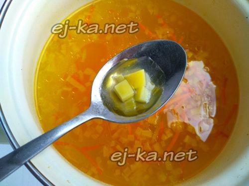 добавить пережарку в суп