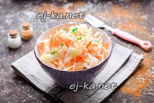 капуста с морковью готова