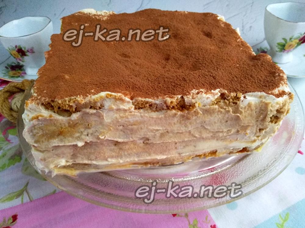 овсяно-сметанный торт без выпечки