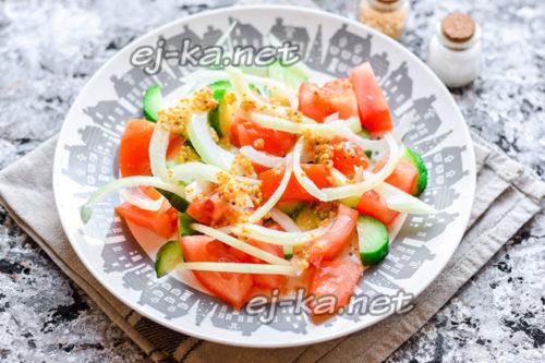 приготовить овощной салат
