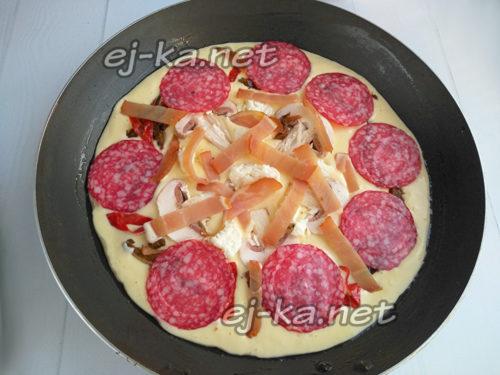 разложить колбасу