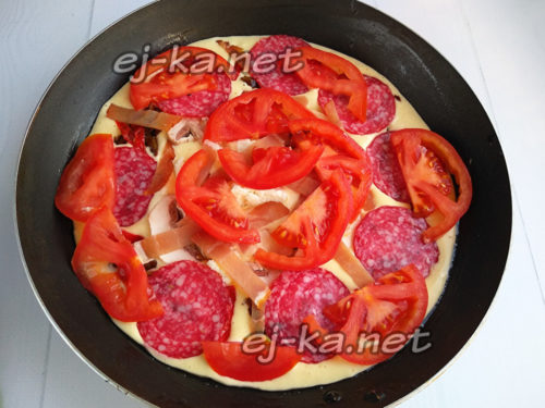разложить помидор