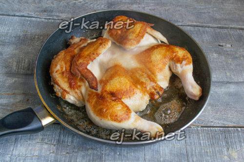 обжарить цыпленка