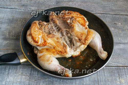 перевернуть цыпленка