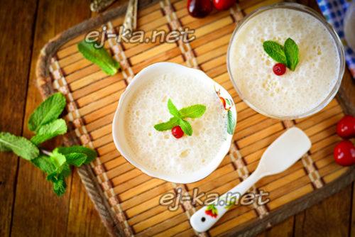 десерт из ряженки готов
