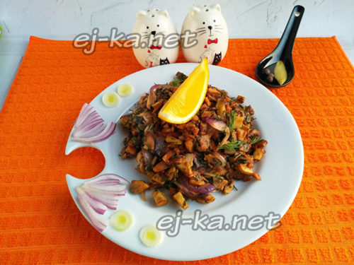 закуска из грибов готова