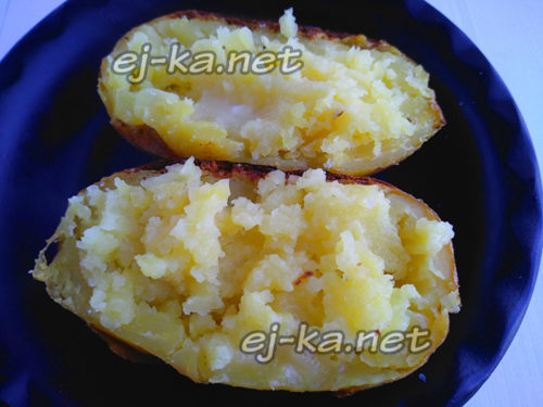 перемешать картофельную мякоть