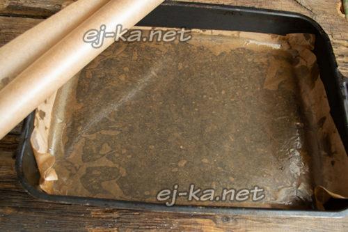подогреть лист пергамента в духовке
