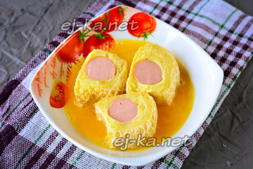 обмакнуть кусочки в яйце