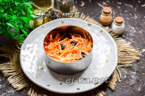 слой моркови с изюмом
