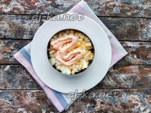 яичный слой и соус