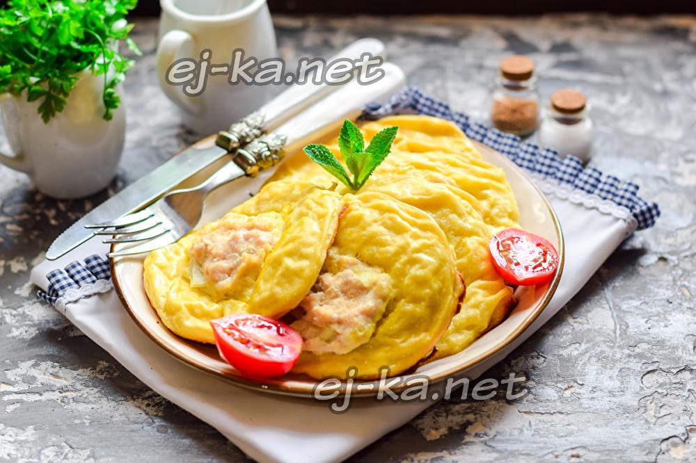 картофельные ватрушки с курицей