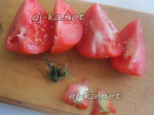 помидоры крупно нарезать
