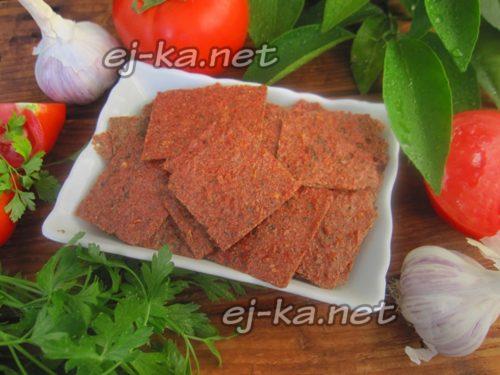 чипсы из помидоров готовы