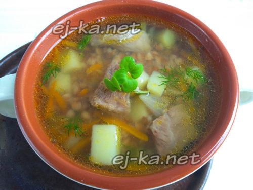 гречневый суп готов