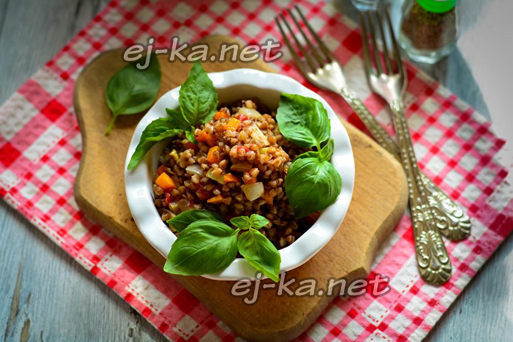 гречка с овощами