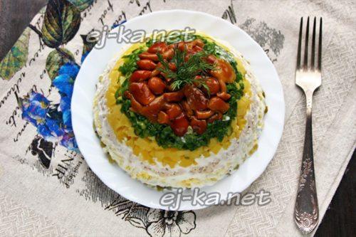 """салат """"Грибная поляна"""" готов"""