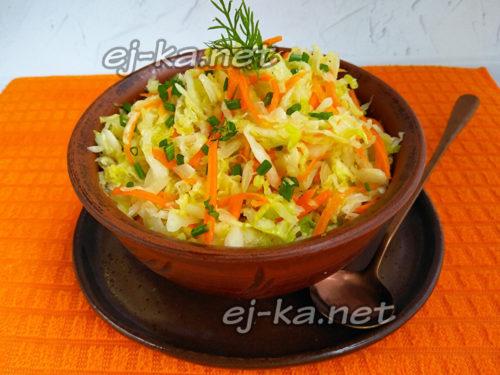 капустный салат, как в столовой