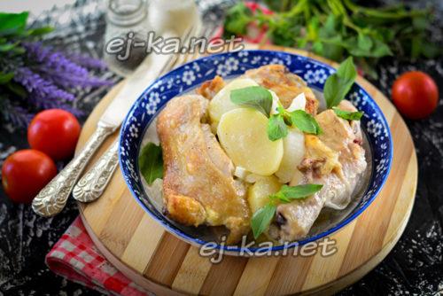 картошка слоеная