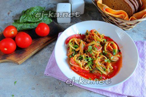 спагетти из кабачков готово