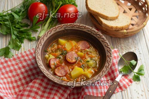 суп с овощами на мясном бульоне