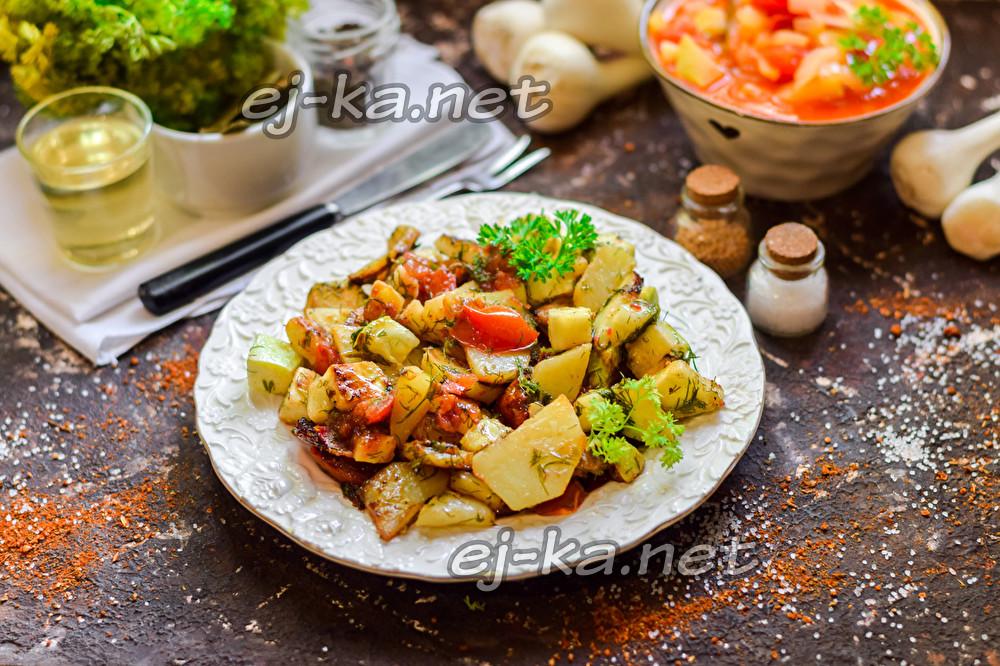вкусная картошка с кабачками