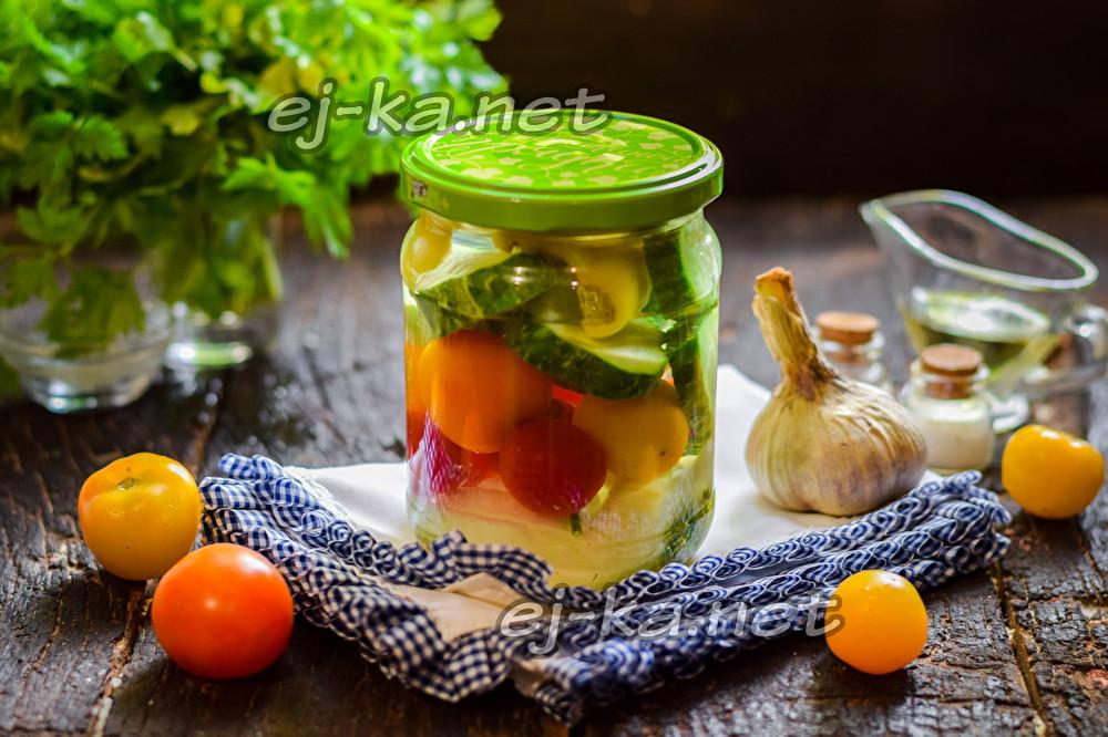 """овощной салат """"Ассорти"""" на зиму"""