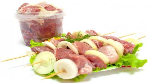 свежесть мяса на шашлык