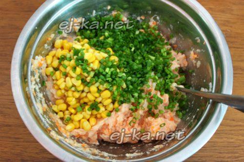 кукуруза и лук