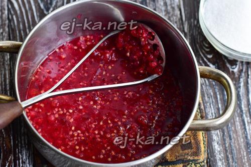пюрируем ягоду