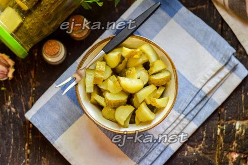 маринованные огурцы с горчицей