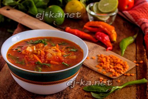 суп Дхал готов