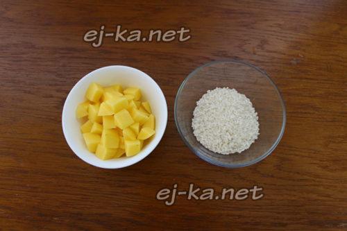 картофель и рис
