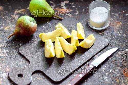 подготовленные яблоки